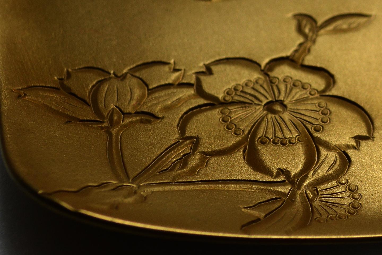 真鍮製 / 古び金めっき・ツヤ消