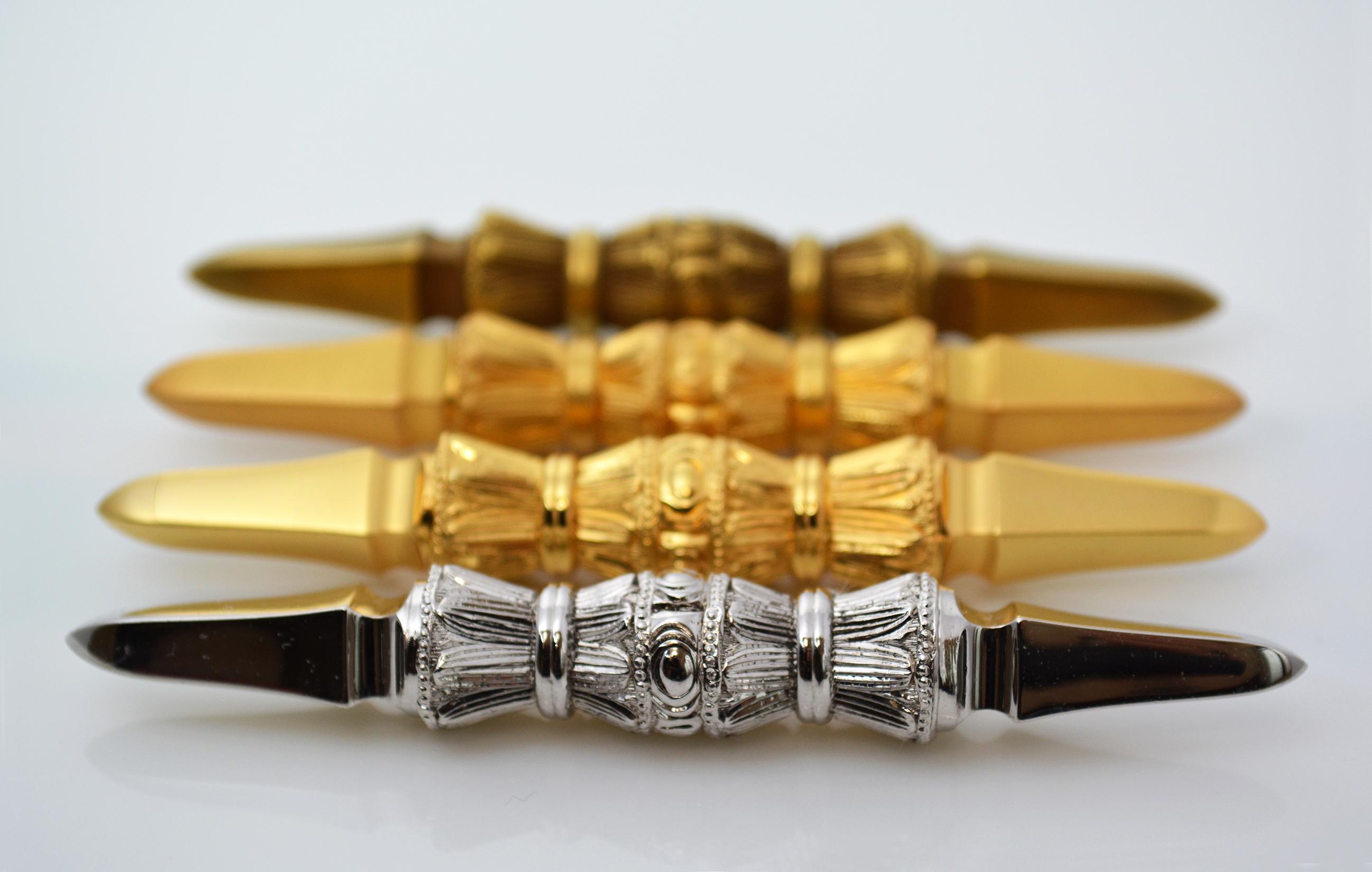 真鍮鋳造製 / 金めっき、消金めっき、古び金めっき、Rhめっき