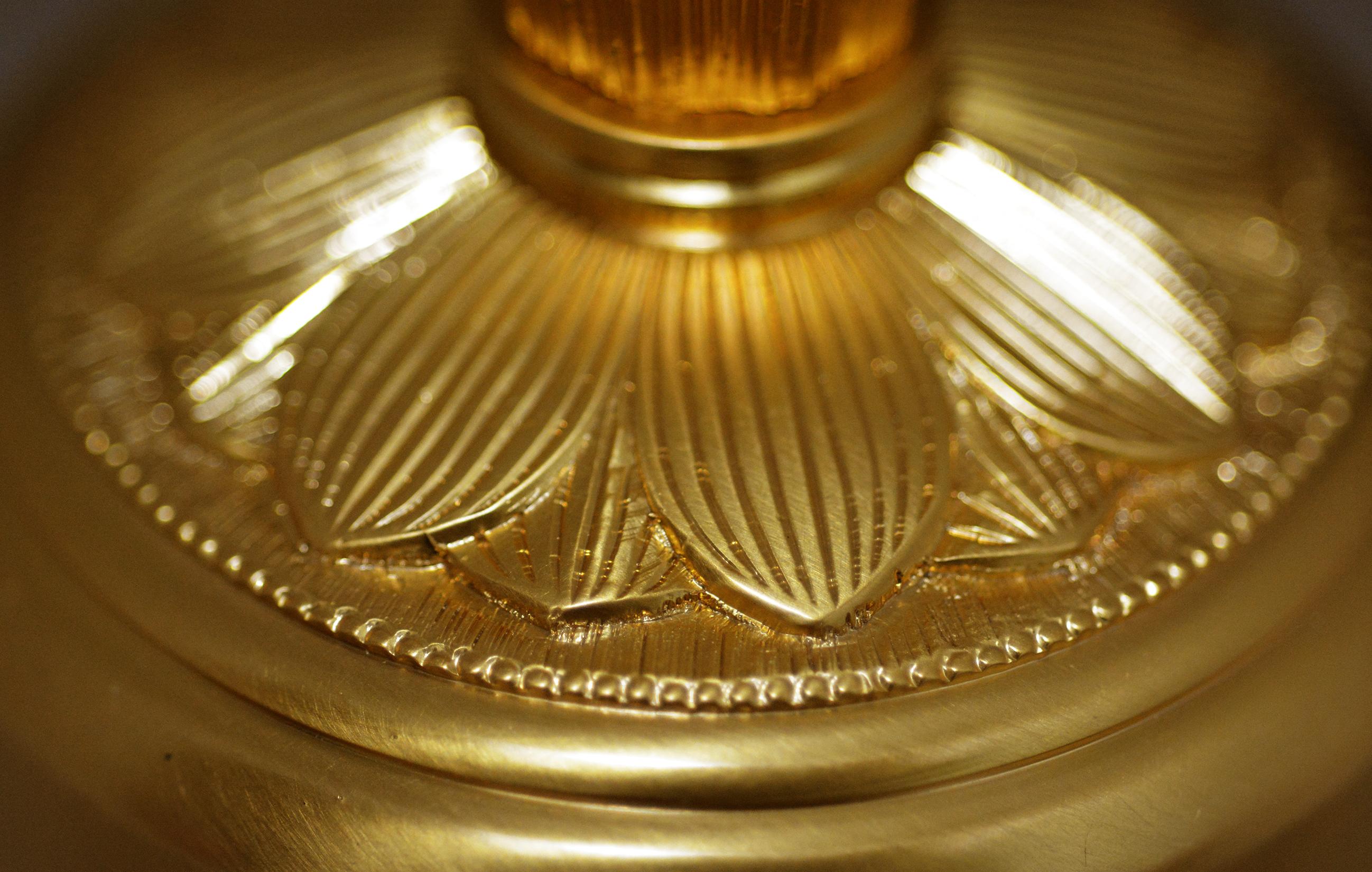 真鍮鋳造製 / 金めっき